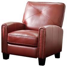 abbyson living catalina pushback leather recliner contemporary recliner chairs by abbyson living