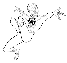 Noble peter parker again sacrifices his convenient life and acts bravely whenever the citizens of new york city are in danger. Miles Morales Spiderman Coloring Page Spiderman Coloring Miles Morales Spiderman Avengers Coloring Pages