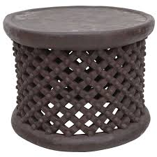 African Drum Coffee Table African Drum Side Table From Cameroon At 1stdibs