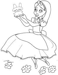 Alice Nel Paese Delle Meraviglie Disegno Da Colorare Cose Per