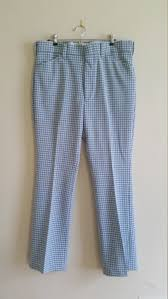 Light Blue Plaid Pants Vintage Mens Slacks Baby Blue Plaid Wrangler Dress Pants