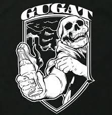 パンクロック 火炎瓶 ドクロ イラスト ロゴ Lサイズ 長袖 ロング Tシャツ Utn331