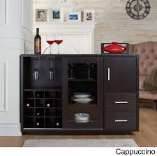 furniture of america julienne modern sliding door wine bar dining this elegant furniture of america julienne modern bar server offer sample storage for glasses and standard sized wine bottles available in two different