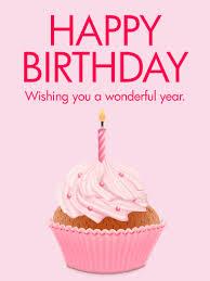 Pink Cupcake Happy B Day Card Birthday Greeting Cards By Davia