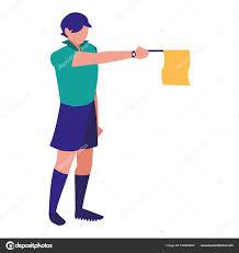 Referee Design Soccer Line Referee Design Stock Vector Djv 236095694