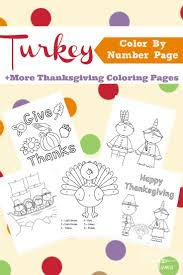 A Turkey Color By Number And