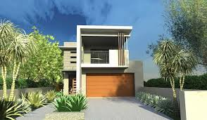 narrow lot modern infill house plans style design row