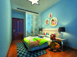 Bedroom: Kids Bedroom Rugs Elegant Blue Children 39 S Bedroom With Rug -  Children's Nursery