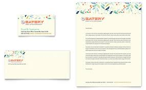 Family Restaurant Business Card Letterhead Template Design