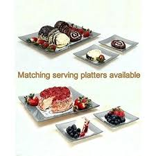 frosted clear glass dessert plates small tempered vs