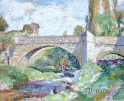victor charreton paintings le pont sur la monne