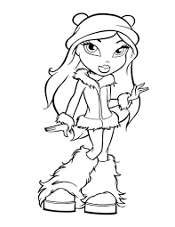Bratz in winter coloring pages - Hellokids.com