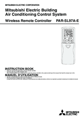 mitsubishi electric par sl97a e instruction book 20 pages building air conditioning