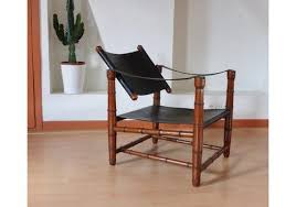 1940 safari leather mid century safari chair