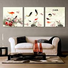 wall art paintings for living roomGallery Canvas ArtLarge Oriental Canvas Print Wall Art Water Lily