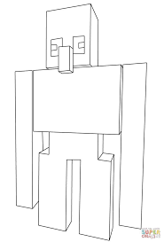 Minecraft Coloring Pages Herobrine At Getcolorings Com Free