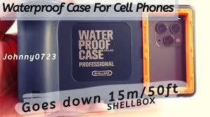 <b>Shellbox Waterproof</b> Cell <b>Phone</b> case, 50 feet limit! Unboxing ...