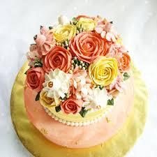 2 Tiered Wedding Rose Cake