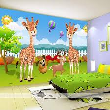 Custom 3D Photo Wallpaper Creative Cartoon Deer Wallpaper Children Bedroom  Backdrop Wallpaper Tree Giraffe Wallpaper Mural