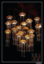 jellyfish light fixture jellyfish lights by a free mind glass jellyfish light fixture