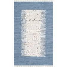 safavieh montauk ivory dark blue 5 ft x 8 ft area rug