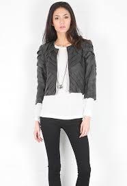 poppy leather jacket in black designed by nonoo