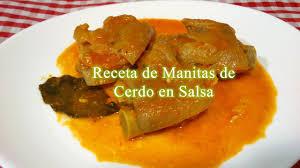 High Quality Receta De Manitas De Cerdo En Salsa   YouTube