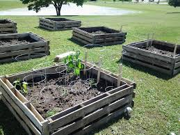 Pallet Wood Raised Bed Garden 10 X 10 Keyhole Raised Bed Made