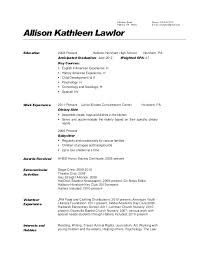 Nanny Resume Example Resume Letter Collection