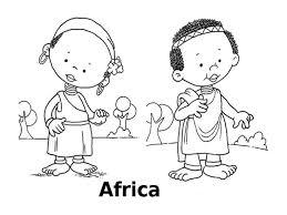 Disegni Da Colorare I Bambini Del Mondo Africa
