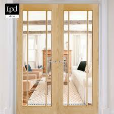lpd oak lincoln glazed 3l clear