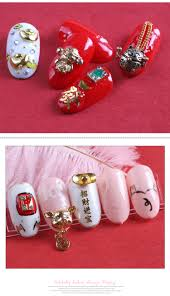 Happy Design Nails Hours Happy New Year Design Nail Tips Decoration Fortune Cat Dog Gold Ingot Pig Nail Alloy 3d Nail Art Accessories Buy Nail Art Accessories New Year Nail