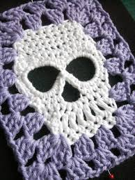 Crochet Skull Granny Square Pattern