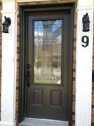 half glass front door furniture black stained wood entry half glass door with black metal handle combined with brick privacy screen for glass front door