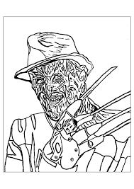 Small Picture Freddie krueger halloween Halloween Coloring pages for adults