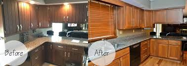 kitchen cabinet refinishing before and after diy kitchen cabinet refinishing kit