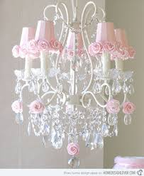 amazing chic pink chandelier for girls room chandeliers 3 bulb mini kid baby image is loading