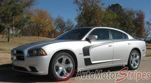 2011-2014 Dodge Charger Hood Stripes Scallop Decals Vinyl Graphic ...