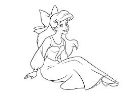 Disney Princess Color Pages Ariel The Art Jinni