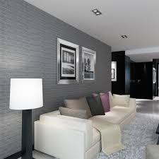 new pe foam 3d wallpaper diy wall stickers wall decor embossedbrick stone gray intl