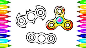 Fidget Spinner Drawing And Coloring Pages And How To Make Easy