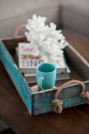 Wooden Trays To Decorate Love this simple tray with rope handles Have to figure out how to 2