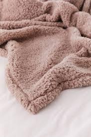 Light Pink Fur Throw Blanket Amped Fleece Throw Blanket Comfy Blankets Fluffy Blankets