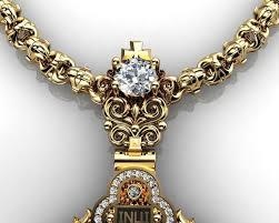 cross mens diamond pendant 3d model stl 3dm 4