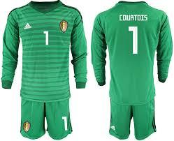 Green Goalkeeper 1 Jersey 2018 Fifa Sleeve World Belgium Cup Long Courtois Soccer