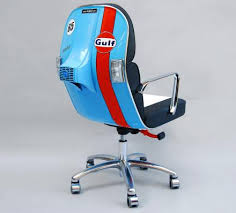 Old office chair Fabric Odditymall Scooter Chair An Old Vespa Scooter Made Into Modern Office Chair