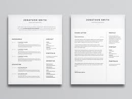 Templates Of Cover Letters For Cv Free Clean Cv And Cover Letter Template With Minimal Design
