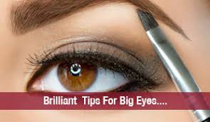 brilliant makeup tips for big eyes see what all you can do