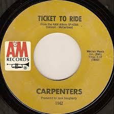 <b>Carpenters</b> - <b>Ticket To</b> Ride (1969, Vinyl) | Discogs