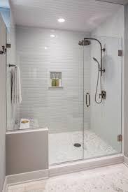 shower tiles ideas simple popular white subway glass frameless